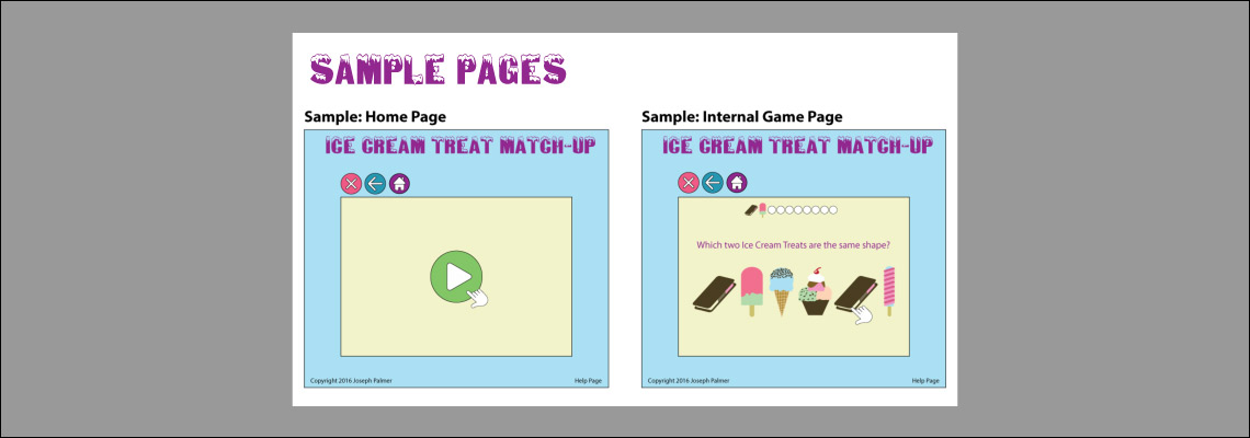 Ice Cream Sample Pages