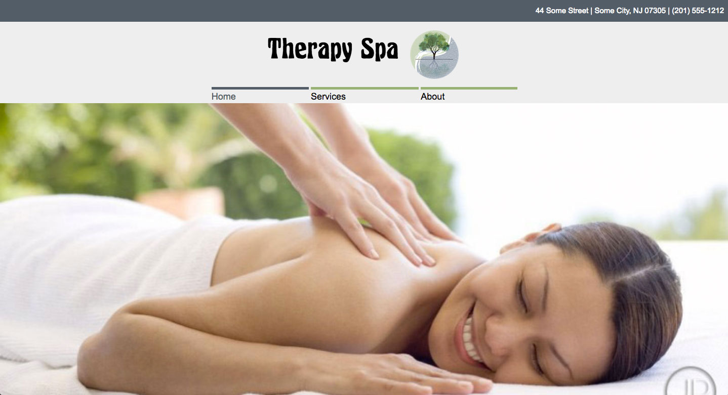 Massage Therapist Website image